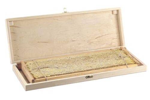 Мед в сотах деревянная шкатулка