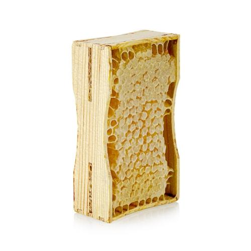 сотовый мед на маленькой рамке