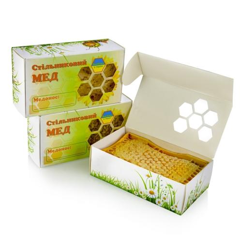 мед в сотах в коробочке