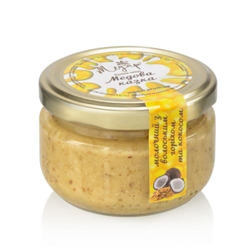 Крем-мед с орехом и кокосом