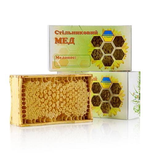 Мёд в сотах на маленькой рамке, 200 г.